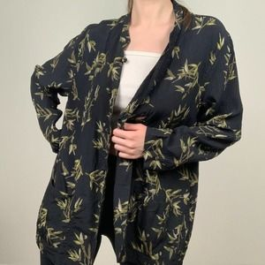 Chico's Design Bamboo Leaves Blouse
